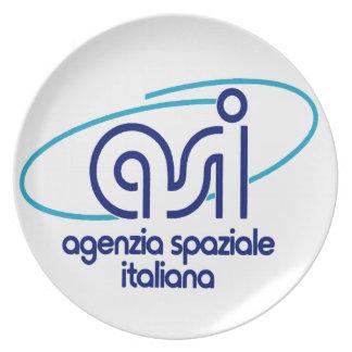 Italian Space Agency  Agenzia Spaziale Italiana - Melamine Plate