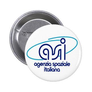 Italian Space Agency  Agenzia Spaziale Italiana - Pinback Button