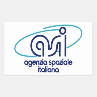 Italian Space Agency  Agenzia Spaziale Italiana - Rectangular Sticker