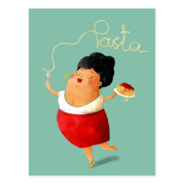 Italian Spaghetti Pasta Lover Postcard