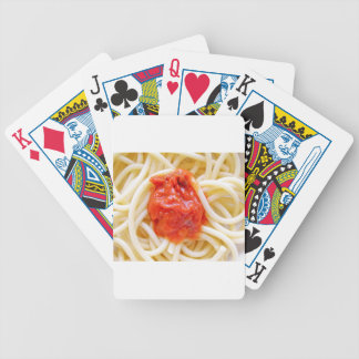 Italian Spaghetti Pasta With Tomato Sausage Top Bicycle Playing Cards