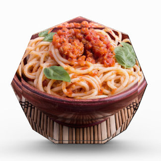 Italian spaghetti with tomato relish and basil award