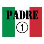 Italian Speaking Fathers & Dads : Padre Numero Uno Postcard