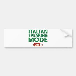Italian Speaking Mode On Car Bumper Sticker