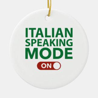 Italian Speaking Mode On Ornament