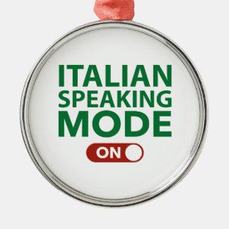 Italian Speaking Mode On Christmas Ornaments