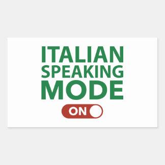 Italian Speaking Mode On Rectangular Sticker