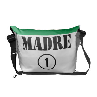 Italian Speaking Mothers & Moms : Madre Numero Uno Messenger Bag