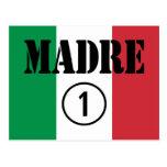 Italian Speaking Mothers & Moms : Madre Numero Uno Postcard