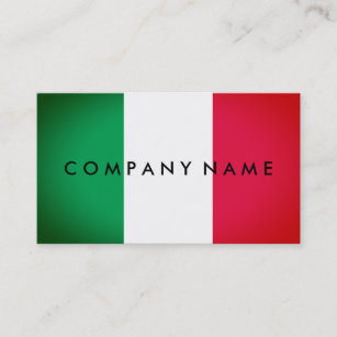Italian business cards zazzle italian spotlight effect flag italy business card colourmoves