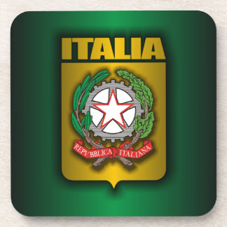"""Italian Steel"" Drink Coasters"