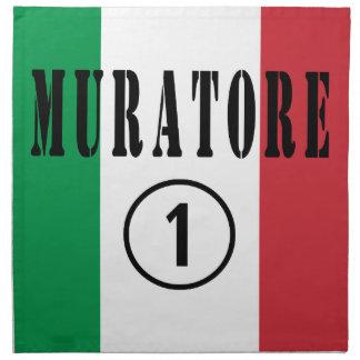 Italian Stonemasons : Muratore Numero Uno Printed Napkin
