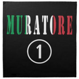 Italian Stonemasons : Muratore Numero Uno Printed Napkins