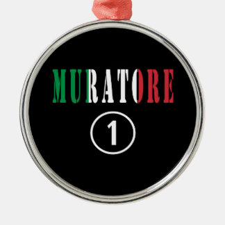 Italian Stonemasons : Muratore Numero Uno Round Metal Christmas Ornament
