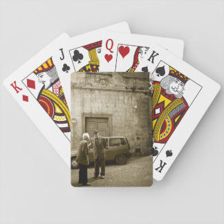 Italian street scene in sepia playing cards
