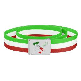 Italian stripes flag belt