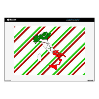"Italian stripes flag decals for 15"" laptops"