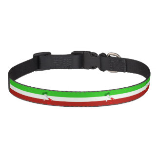 Italian stripes flag pet collar