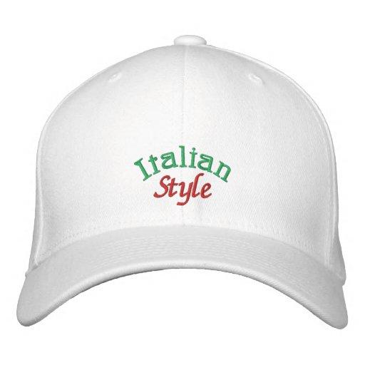 Italian Style Embroidered Baseball Cap