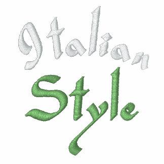 ITALIAN STYLE EMBROIDERED TRACK JACKET
