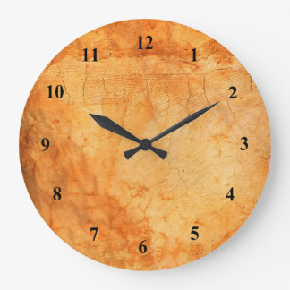 Italian style terracotta brick wall large clock