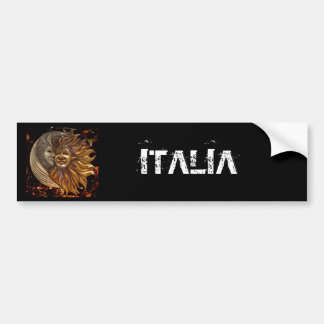 Italian Sun & Moon Carnaval Masks Car Bumper Sticker