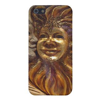 Italian Sun & Moon Carnaval Masks Cases For iPhone 5