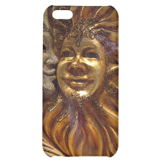 Italian Sun & Moon Carnaval Masks Case For iPhone 5C