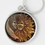 Italian Sun & Moon Carnaval Masks Key Chain
