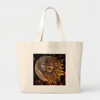Italian Sun & Moon Carnaval Masks Large Tote Bag