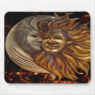 Italian Sun & Moon Carnaval Masks Mouse Pads