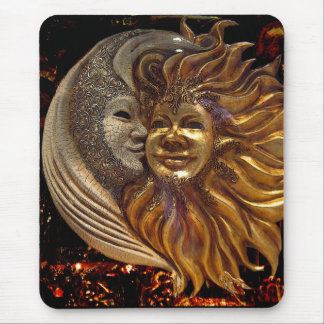 Italian Sun & Moon Carnaval Masks Mouse Pad