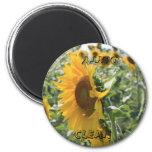 Italian Sunflower 2 Inch Round Magnet