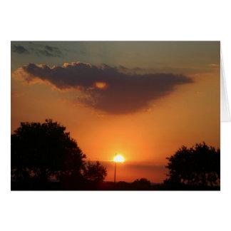 italian sunset card