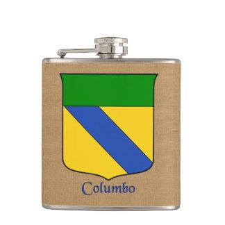 Italian Surname Columbo Historical Heraldic Shield Hip Flask