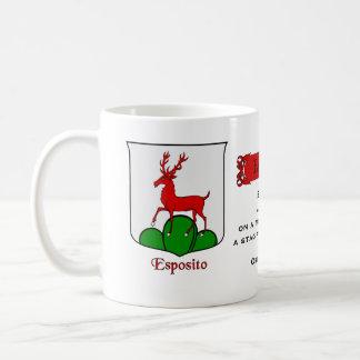 Italian Surname Esposito Heraldic Shield n Blazon Coffee Mug
