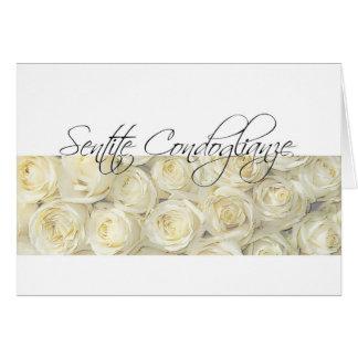Italian Sympathy roses - sentite condoglianze Card
