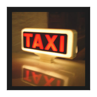 Italian Taxi Wall Canvas Gallery Wrapped Canvas
