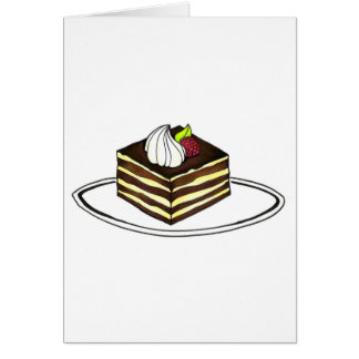 Italian Tiramisu Chocolate Espresso Cake Card