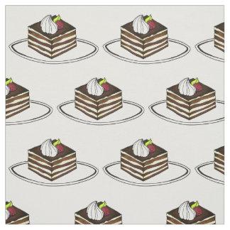 Italian Tiramisu Chocolate Pastry Dessert Fabric