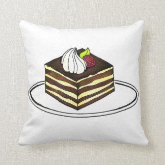 Italian Tiramisu Dessert Cake Slice Foodie Pillow