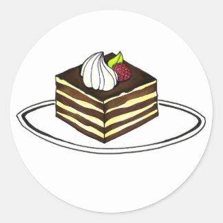 Italian Tiramisu Plate w/ Raspberry Foodie Sticker