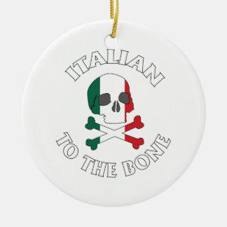Italian To The Bone Ceramic Ornament