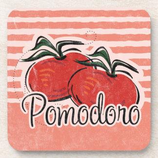 Italian Tomato Cork Coaster