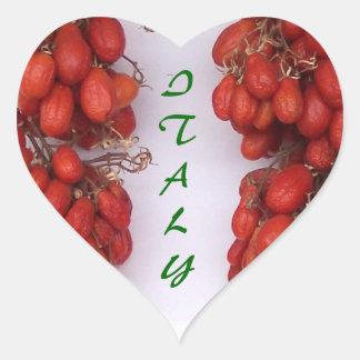Italian Tomatoes Heart Sticker