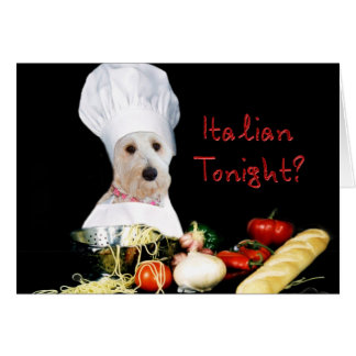 Italian Tonight? Note Card - Kati's Collection Greeting Cards