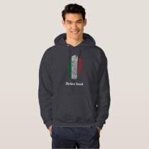 Italian touch fingerprint flag hoodie