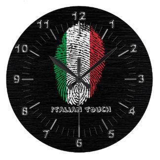 Italian touch fingerprint flag large clock