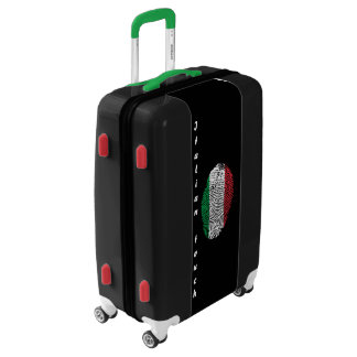 Italian touch fingerprint flag luggage