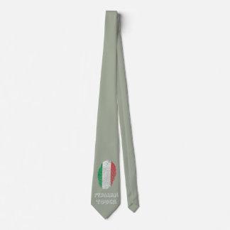 Italian touch fingerprint flag tie
